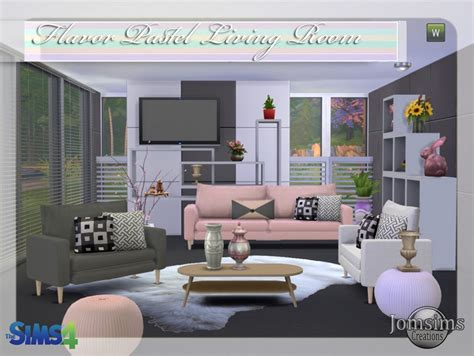Rooms To Go Dining Sets Sims Room 4 Jomsimscreations New Living Room Sims 4 Flavor