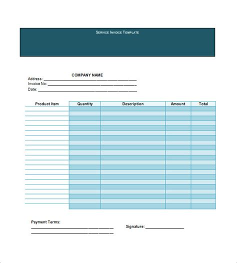 service invoice templates 11 free word excel pdf