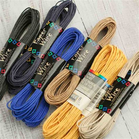 Twisted Craft Paper - assortment of craft paper twist wire wire rope
