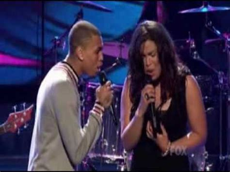 Jordin Sparks And Chris Brown On The Set Of No Air by Jordin Sparks Chris Brown No Air Live American Idol