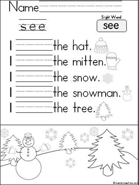 Learn To Read Worksheets For Kindergarten by Free Worksheet To Help Your Students Learn To Read And