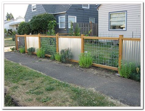 Metal Garden Fencing Ideas Corrugated Metal Fence Ideas Garden Works Furnishings Hardscape And Accents Pinterest