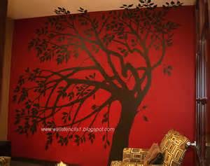 Tree Stencil For Wall Mural Wall Stencils Flower Wall Stencils