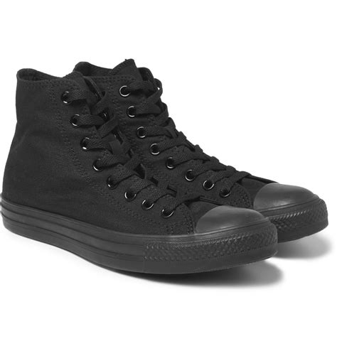 hi top canvas sneakers converse chuck canvas high top sneakers in black