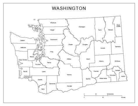washington county map washington state map