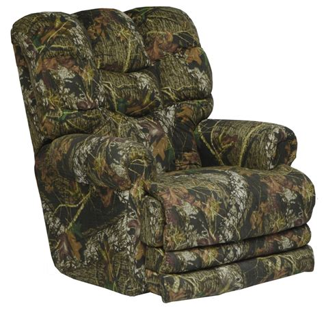catnapper camo recliner duck dynasty big falls power lay flat recliner in mossy