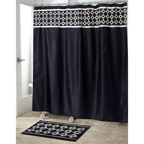 Black Shower Curtains Black Shower Curtain Furniture Ideas Deltaangelgroup