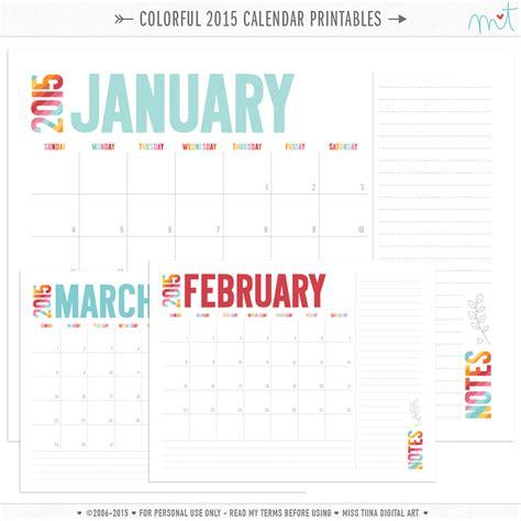 free printable planner 2015 pinterest colorful 2015 calendar free printables