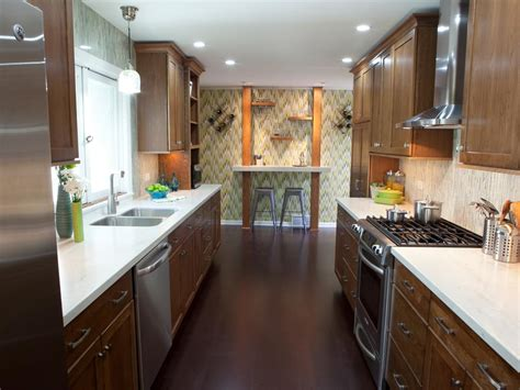 ideas for a galley kitchen small galley kitchen ideas pictures tips from hgtv