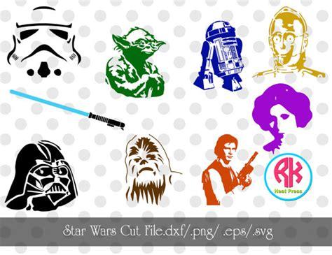 star wars cut file set png dxf svg eps