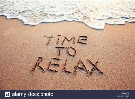 Written On time to relax concept written on stock photo