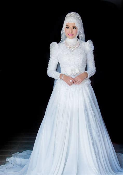 Gamis Longdress Terusan Panjang Muslim Andrea Dress kebaya pengantin muslim nan trendi dan klasik nibinebu