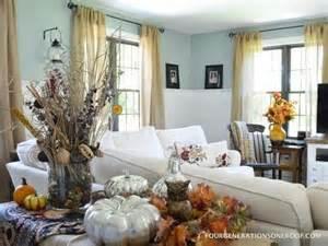Living Room Owl Decor Our Autumn Sofa Table Mantel Fall Decorating Pumpkins