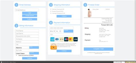 12 Free Html5 Css3 Checkout Forms Download Vendor Website Template
