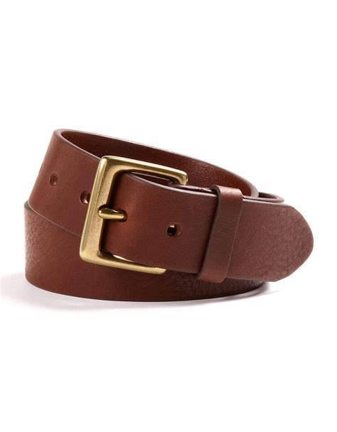 by ralph leather dress belt in brown for