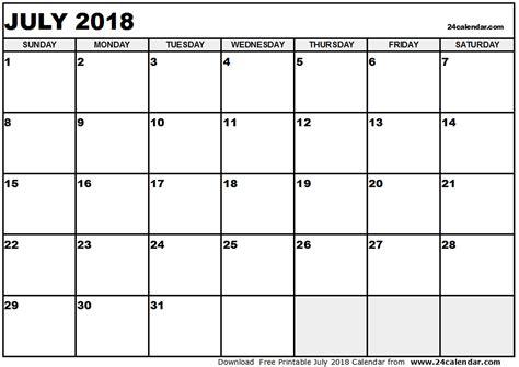 printable monthly calendar 2018 word july 2018 calendar printable word yspages com