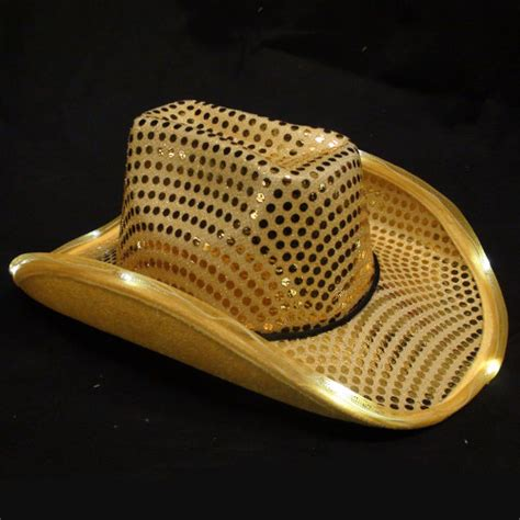 light up cowboy hat gold led flashing cowboy hat sureglow com