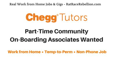 work from home part time community on boarding associates