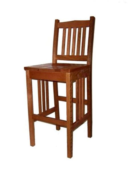 raleigh quartersawn white oak bar stool gallery in amish made mission bar stool