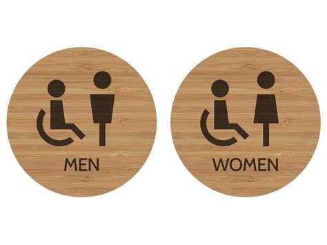 Modern Bathroom Signs by Modern Wood Restroom Signs Contemporary Wooden Bathroom