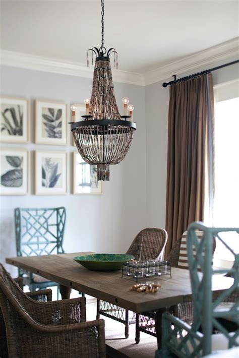 Turquoise dining chairs cottage dining room interior philosophy