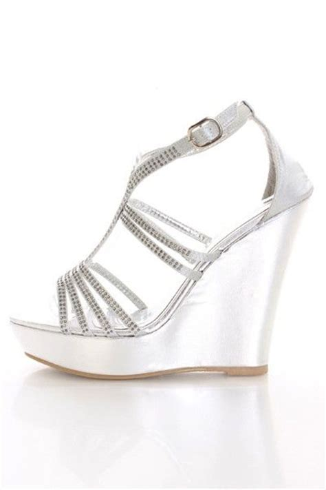 25 best ideas about silver wedges on womens