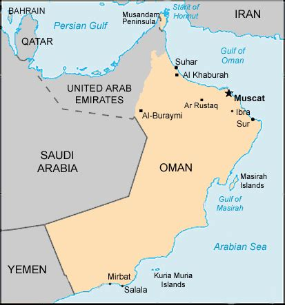 map uae and oman map oman centre for intercultural learning
