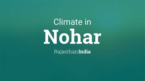 climate weather averages  nohar rajasthan india