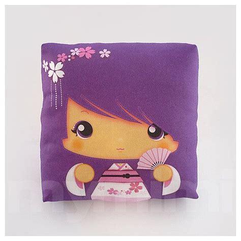 almohada japonesa kawaii girl girls pillow geisha pillow purple pillow