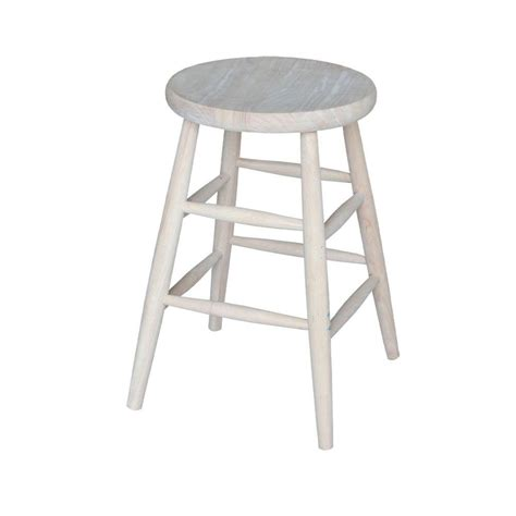 unfinished maple bar stools international concepts 24 in unfinished wood bar stool 1s