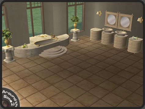 Sims 2 Bathroom by Around The Sims 2 Objects Bathroom Tropezienne