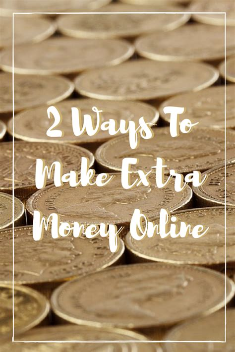 Making Extra Money Online - make money 2 ways to make extra money online