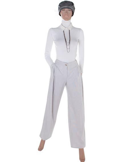 Setelan Stripe Chanel Gray chanel grey and white striped 09p la doyenne