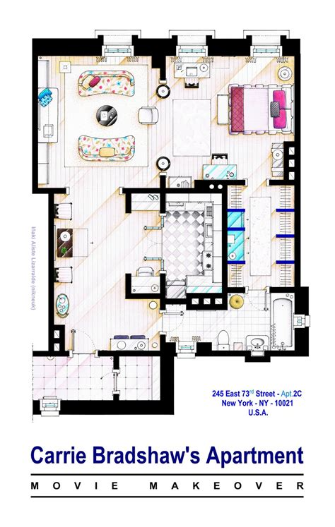 carrie bradshaw apartment floor plan carrie bradshaw apt sex and the city movies by nikneuk