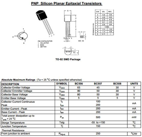 bc557 transistor uses bc557 transistor applications 28 images korea electronics co ltd bc556 series datasheets