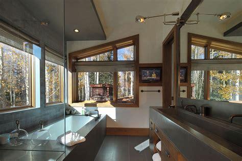 colorado bathrooms bathroom modern log cabin in telluride colorado