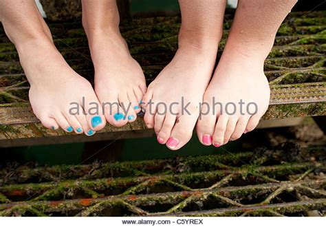 feet preteen painted toes stock photos painted toes stock images alamy