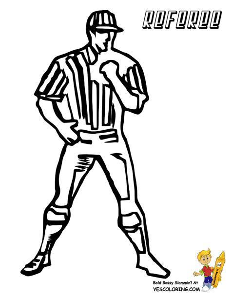 football referee coloring page mega usa football coloring page football players free