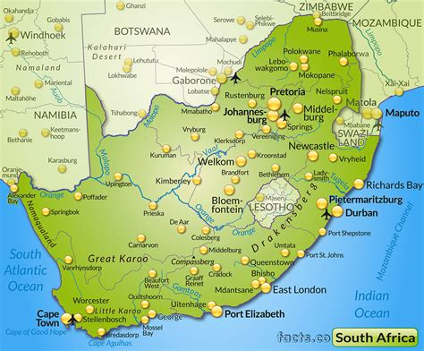 south map cradock south africa map map of africa