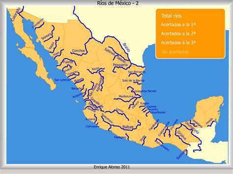 mapa de mexico con rios cobaq 8 quot azteca quot geograf 237 a mapa los r 237 os de m 233 xico con