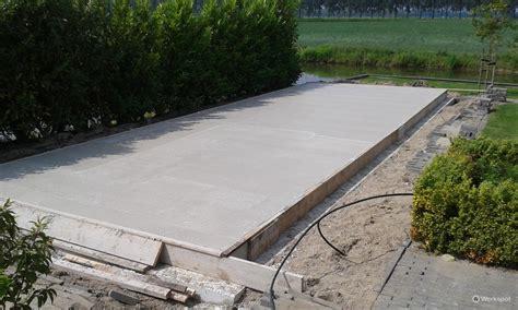 beton laten storten voor tuinhuis fundering met boorpalen t b v tuinhuis werkspot
