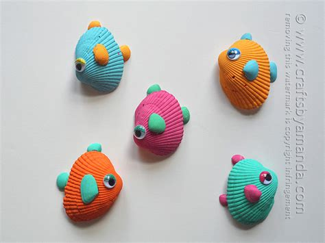 crafts with seashells for tropical seashell fish craft crafts by amanda