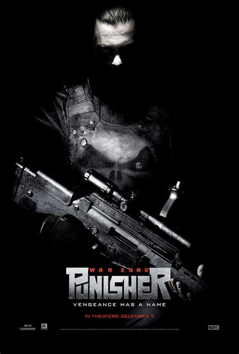 Punisher War Zone 2008 Film Another New Punisher Zone Poster Featuring Ray Stevenson Blue Space