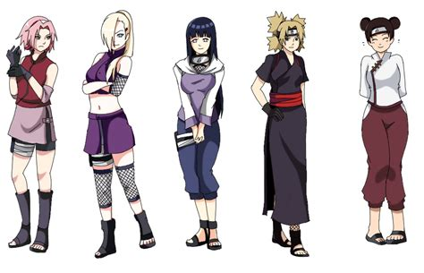 naruto themes names image naruto shippuden female char by megalow d6zbpdf