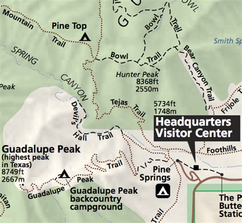 guadalupe mountains texas map guadalupe mountains national park david cool artist technologist