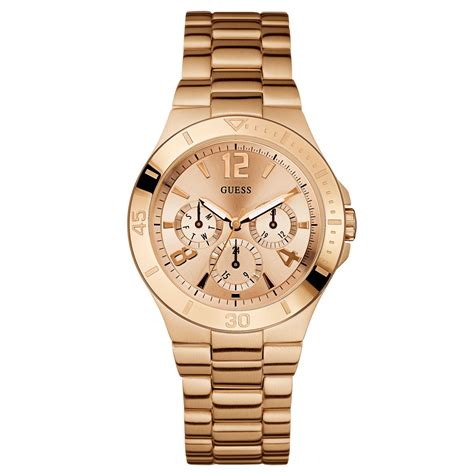 Guess Merica Rosegold Limited guess womens chronograph active shine goldtone stainless steel bracelet 49mm in gold