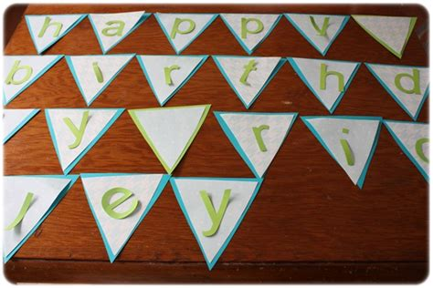 How To Make Paper Pennant Banner - pennant birthday banner tutorial