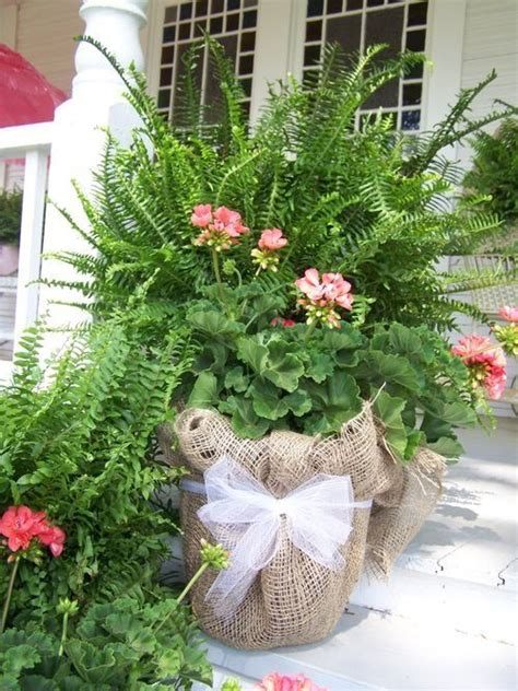 pot plant christmas altar the burlapped wrapped pot maybe on a smaller scale for table decor for casual