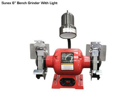 sunex bench grinder sunex 6 quot bench grinder with light gses