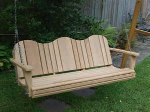 Patio Swing Plans by Cypress Porch Swing Plans Woodguides